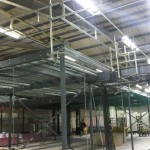 mezzanine under construction