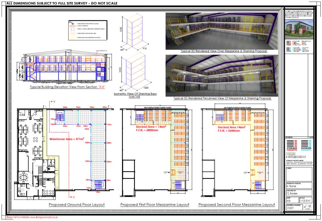 Mezzanine Floor CAD Designer